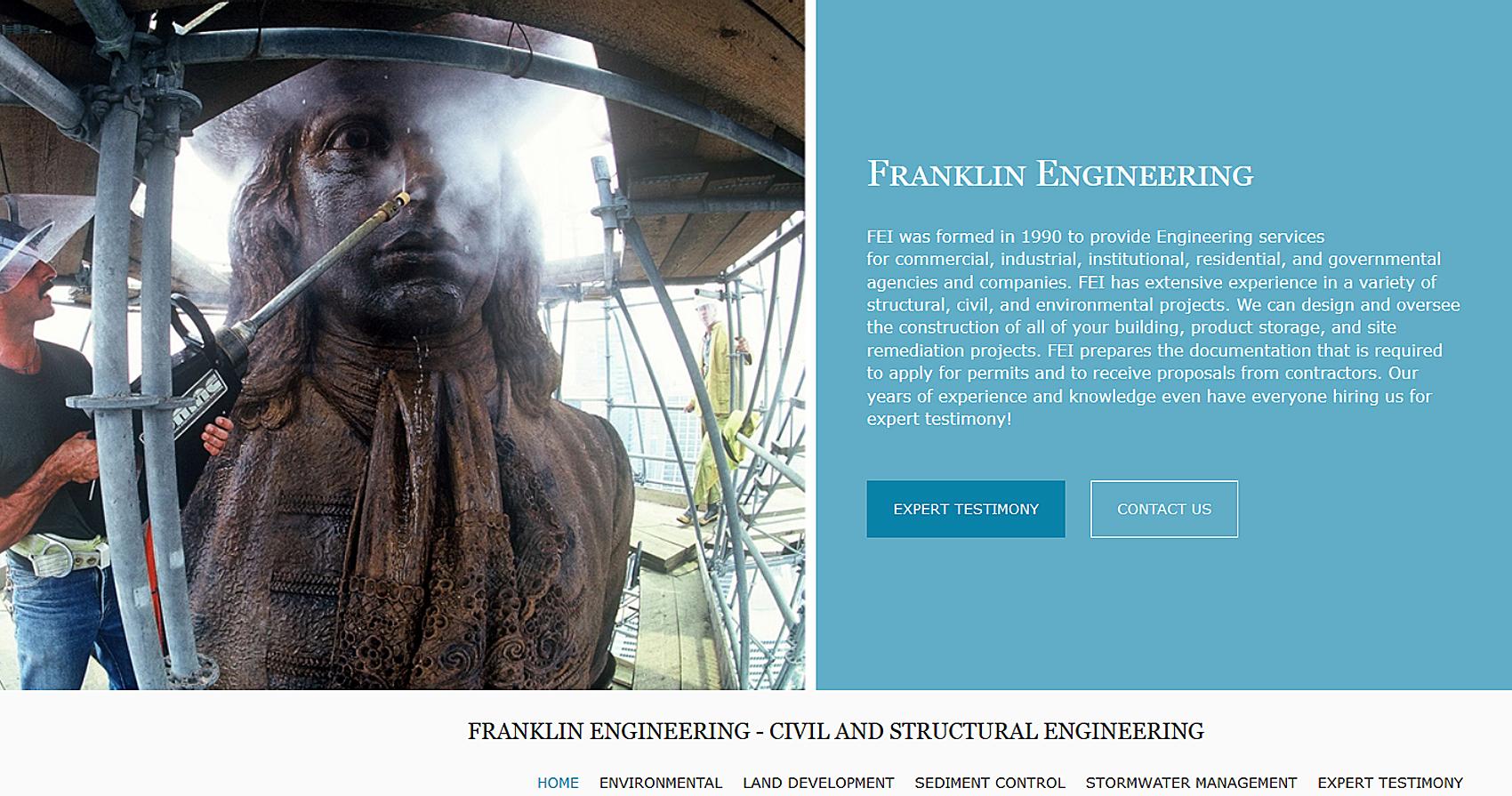 Franklin Engineering Web Design