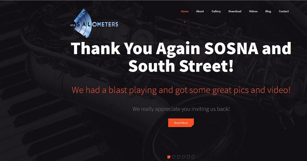 Salometers Web Design